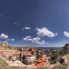 Crimea. Sudak. 360 ° view of the surroundings of the Genoese Fortress (on the right above the hill). There will be a garden city! / Крым. Судак. 360° панорама окрестностей Генуэзской крепости. Здесь будет город-сад!